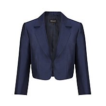 Buy Bruce by Bruce Oldfield Wool Silk Cropped Jacket, Navy Online at johnlewis.com