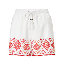 Buy Somerset by Alice Temperley Embroidered Shorts, White Mix Online at johnlewis.com