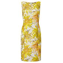 Buy Bruce by Bruce Oldfield Jacquard Floral Dress, Yellow Online at johnlewis.com