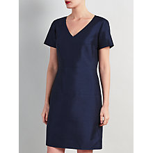 Buy Bruce by Bruce Oldfield Wool Silk Panel Dress, Navy Online at johnlewis.com