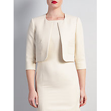 Buy Bruce by Bruce Oldfield Cropped Metallic Squares Jacket, Cream Online at johnlewis.com
