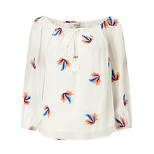 Buy Somerset by Alice Temperley Embroidered Leaf Top, White Online at johnlewis.com