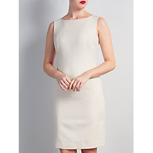 Buy Bruce by Bruce Oldfield Sleeveless Metallic Squares Dress, Cream Online at johnlewis.com