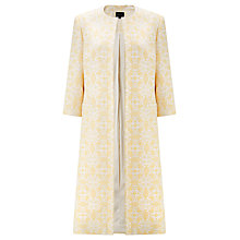 Buy Bruce by Bruce Oldfield Metallic Jacquard Coat, Yellow Online at johnlewis.com