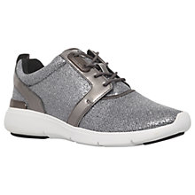 Buy MICHAEL Michael Kors Amanda Fabric Trainers, Pewter Online at johnlewis.com