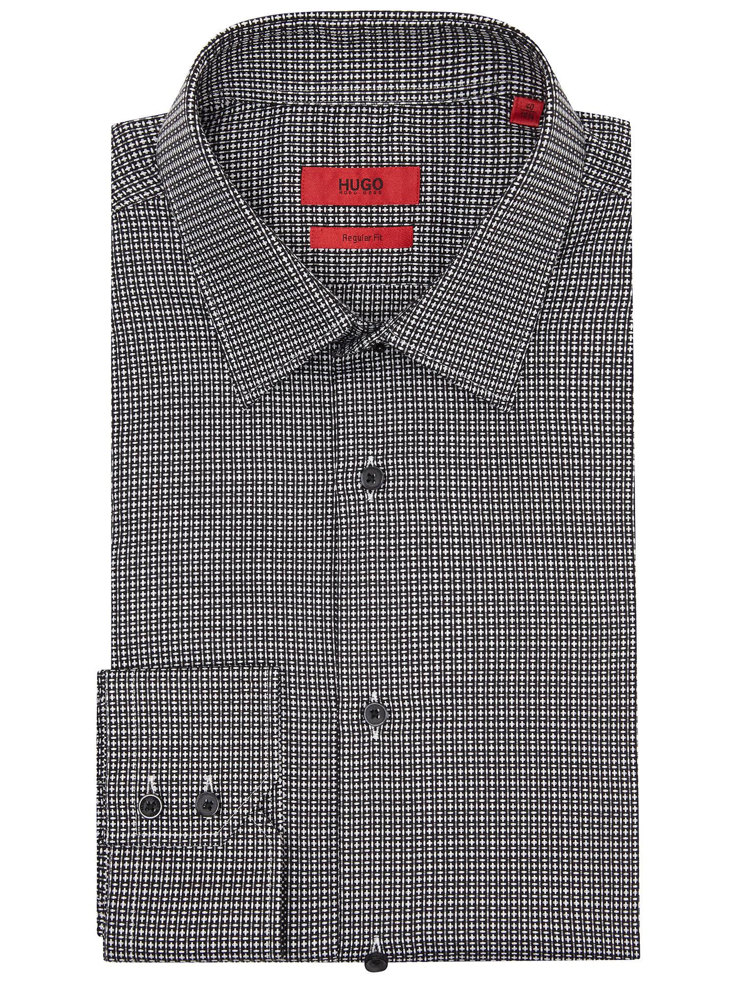 eine große Auswahl an Modellen bekannte Marke beste Sammlung HUGO by Hugo Boss C-Enzo Pattern Regular Fit Shirt, Black at ...