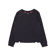 Buy Jigsaw Girls' Jacquard Jersey Top, Navy Online at johnlewis.com