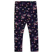 Buy Jigsaw Girls' Scattered Heart Leggings, Navy Online at johnlewis.com