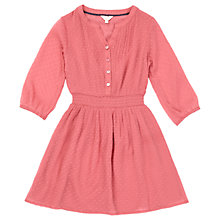 Buy Jigsaw Girls' Fil Coupé Dress, Dusty Pink Online at johnlewis.com