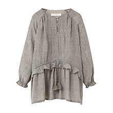 Buy Mango Kids Girls' Fluted Hem Dress, Grey Online at johnlewis.com