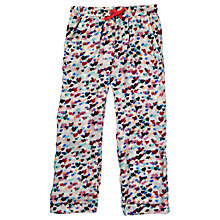Buy Jigsaw Girls' Scattered Heart Print Trousers, Multi Online at johnlewis.com