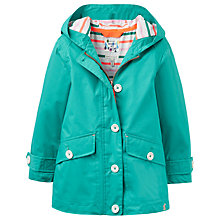 Buy Little Joule Girls' Coast Waterproof Coat, Green Online at johnlewis.com