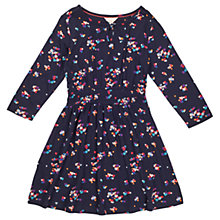 Buy Jigsaw Girls' Scattered Heart Jersey Dress, Navy Online at johnlewis.com