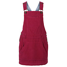 Buy Fat Face Girls' Corduroy Dungaree Dress, Redbud Online at johnlewis.com