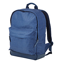 Buy John Lewis All Over Print School Backpack, Navy Online at johnlewis.com