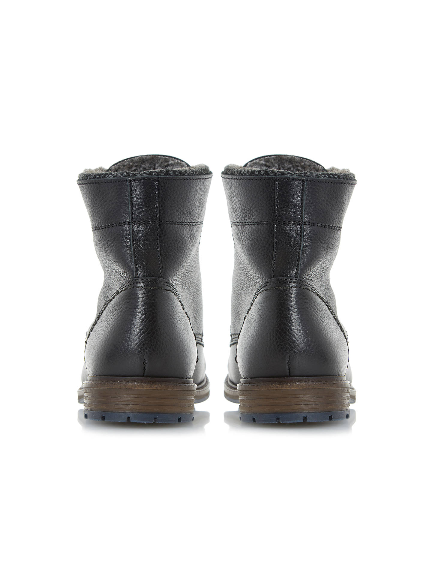 BuyDune Chichester Double Collar Lined Boots, Black, 6 Online at johnlewis.com