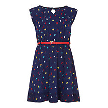 Buy Yumi Girl Fruit Scatter Print Dress, Navy Online at johnlewis.com