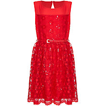 Buy Yumi Girl Embroidered Flower Dress, Red Online at johnlewis.com