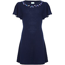 Buy Yumi Girl Embellished Frill Dress, Navy Online at johnlewis.com