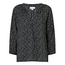 Buy Velvet Ashanti Blouse, Black Snow Online at johnlewis.com