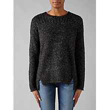 Buy Velvet by Graham & Spencer Keri Jumper, Charcoal Online at johnlewis.com