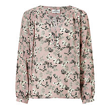 Buy Pyrus Florence Butterfly Print Silk Blouse, Pink Online at johnlewis.com