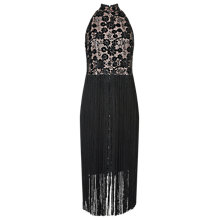 Buy Jacques Vert Fringe Dress, Black Online at johnlewis.com