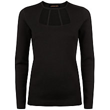 Buy Jaeger Cut Out Detail Jumper, Black Online at johnlewis.com