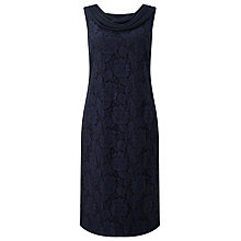 Buy Jacques Vert Lace Drape Cape Dress, Navy Online at johnlewis.com