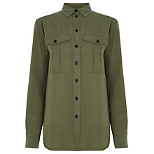 Buy Warehouse Casual Utility Blouse, Khaki Online at johnlewis.com