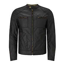 Buy Belstaff Weybridge Rubberized Jersey Jacket, Black Online at johnlewis.com