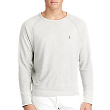 Buy Polo Ralph Lauren French Terry Sweatshirt, Perfect Grey Online at johnlewis.com