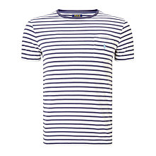 Buy Polo Ralph Lauren Short Sleeve Crew Neck Pocket T-Shirt, White/Observer Blue Online at johnlewis.com