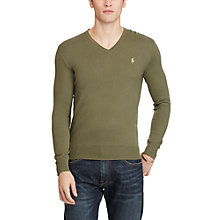 Buy Polo Ralph Lauren Slim Fit Cotton-Cashmere V-Neck Jumper Online at johnlewis.com