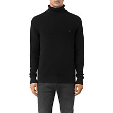 Buy AllSaints Trias Roll Neck Jumper, Black Online at johnlewis.com