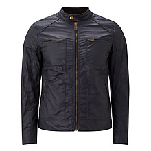 Buy Belstaff Weybridge Wax Cotton Jacket, Dark Navy Online at johnlewis.com