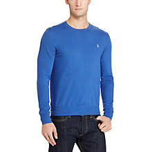 Buy Polo Ralph Lauren Slim Fit Cotton-Cashmere Crew Neck Jumper Online at johnlewis.com