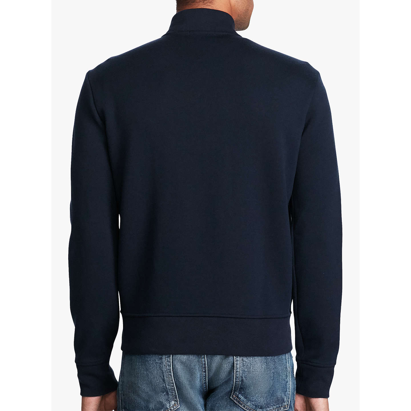 BuyPolo Ralph Lauren Double-Knit Bomber Jacket, Aviator Navy, M Online at  johnlewis ...