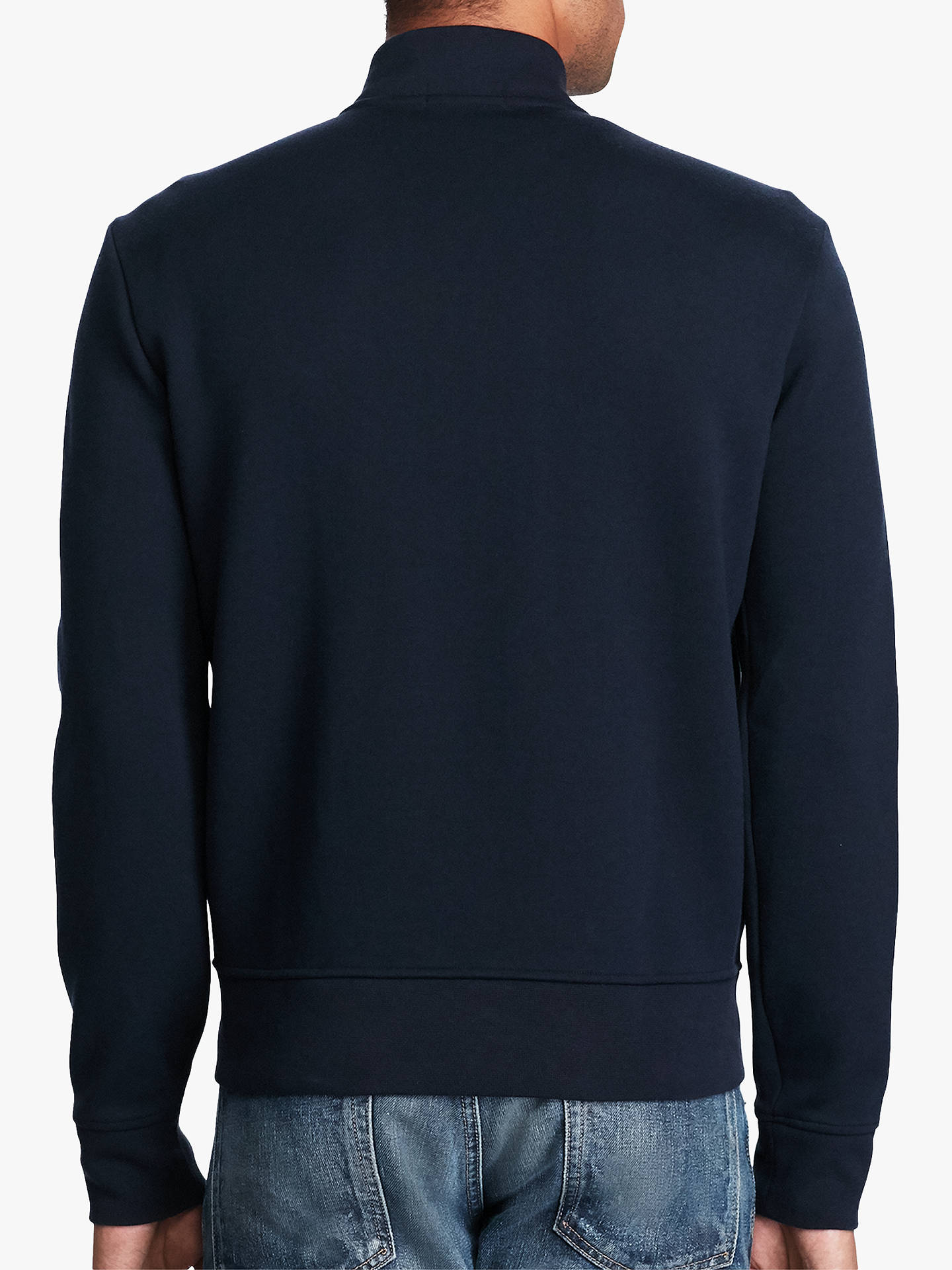 Buy Polo Ralph Lauren Double-Knit Bomber Jacket, Aviator Navy, S Online at johnlewis.com