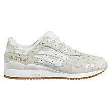Buy Asics Tiger GEL-Lyte III Fleck Women's Trainers, White/Gold Online at johnlewis.com