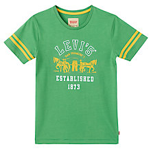 Buy Levi's Boys' Angelo Twin Stripe T-Shirt, Green Online at johnlewis.com