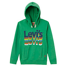 Buy Levi's Boys' Dario Sweatshirt, Green Online at johnlewis.com