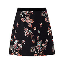 Buy Miss Selfridge Floral Jacquard Skirt, Black Online at johnlewis.com