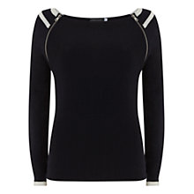 Buy Mint Velvet Sporty Raglan Jumper, Blue Online at johnlewis.com