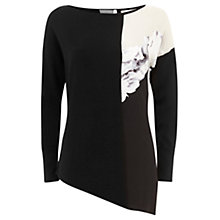 Buy Mint Velvet Petra Print Asymmetric Top, Multi Online at johnlewis.com