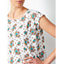 Buy Collection WEEKEND by John Lewis Dotty Summer Floral Top, White/Multi Online at johnlewis.com