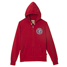 Buy Levi's Boys' Chris Zip Through Hoodie, Red Online at johnlewis.com