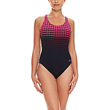 Buy Zoggs Darwin Actionback Swimsuit, Pink/Black Online at johnlewis.com