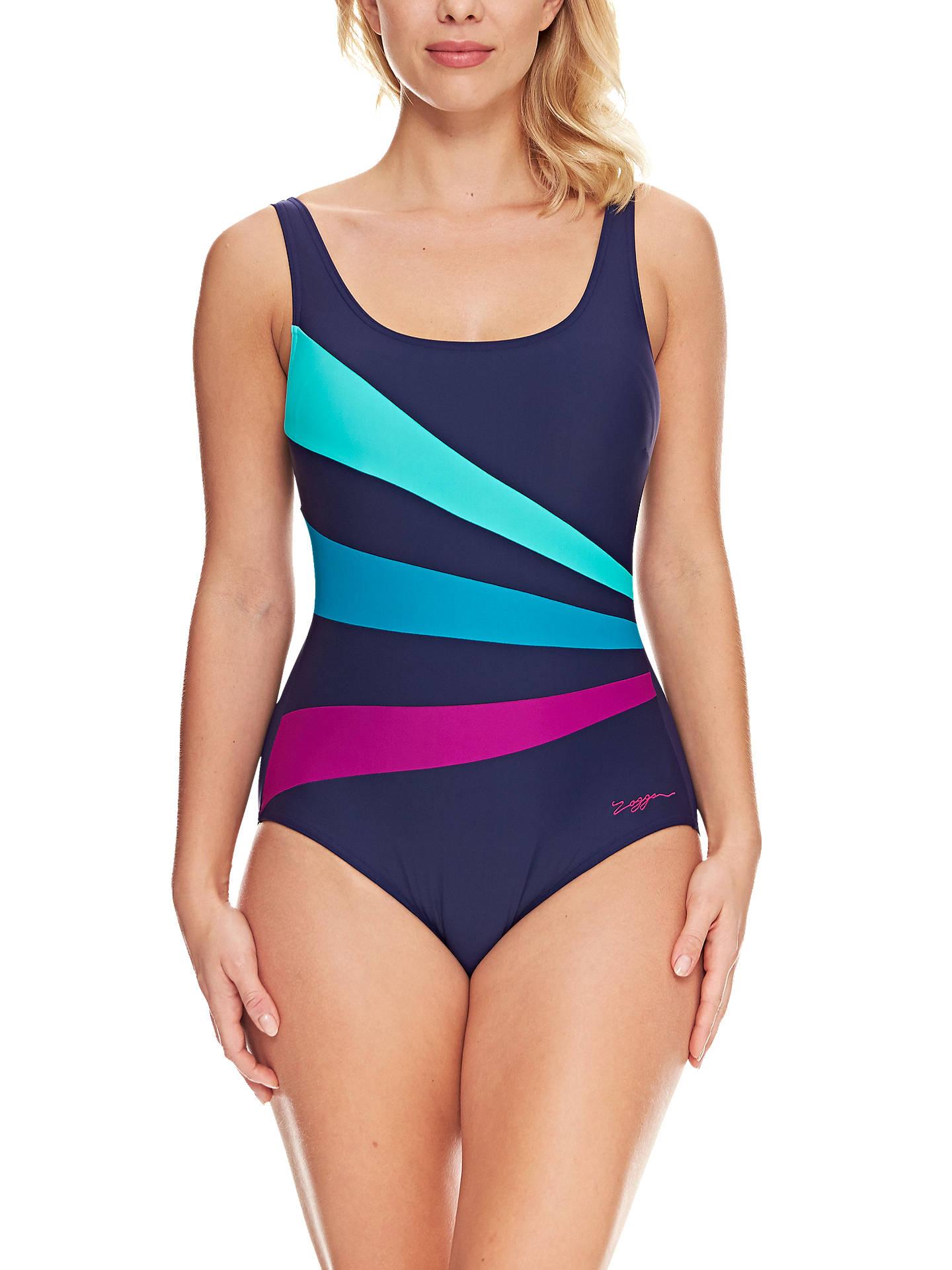 1d3bef87674 BuyZoggs Modern Aztec Sandon Scoopback Swimsuit