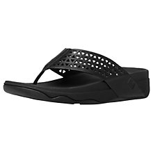 Buy FitFlop Leather Lattice Surfa Flip Flops Online at johnlewis.com